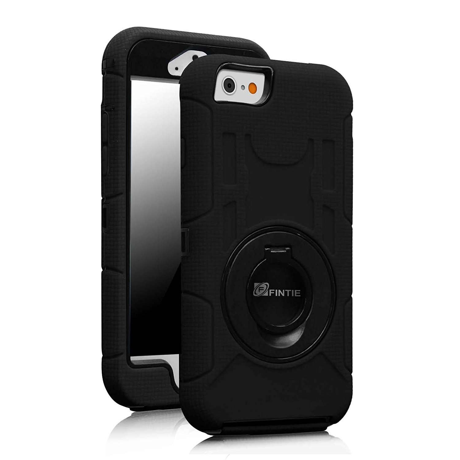 Fintie iPhone 6S Case - [Commander Series] Three Layer Hard Shell Cover Holster with Built-in Rotating Stand and Belt Swivel Clip for Apple iPhone 6 / iPhone 6s (4.7-inch), Black