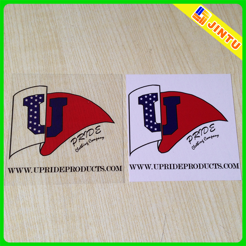 Custom clear PVC plastic label sticker wholesale
