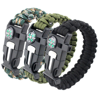 Manufacturer wholesale 550 paracord survival bracelet with logo