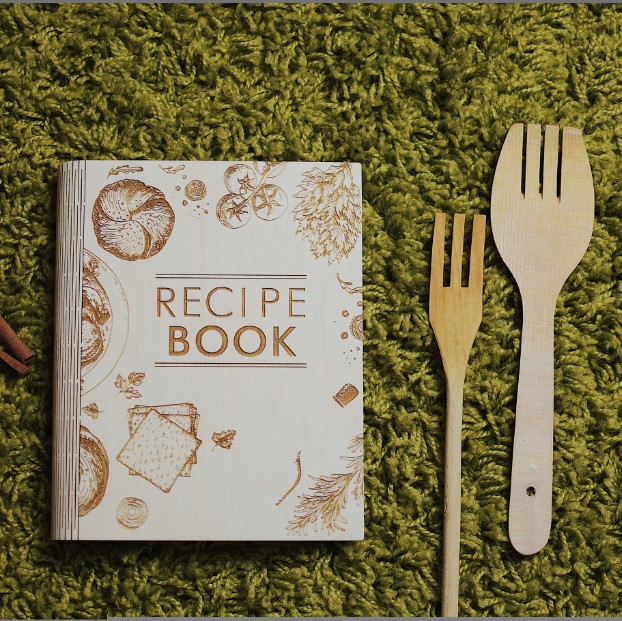 Personalized Wooden Recipe Book Recipe Journal Cook Book