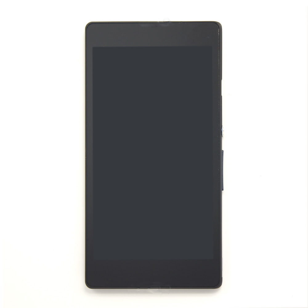 professional replacement black smartphone lcd screen for sony xperia z l36h