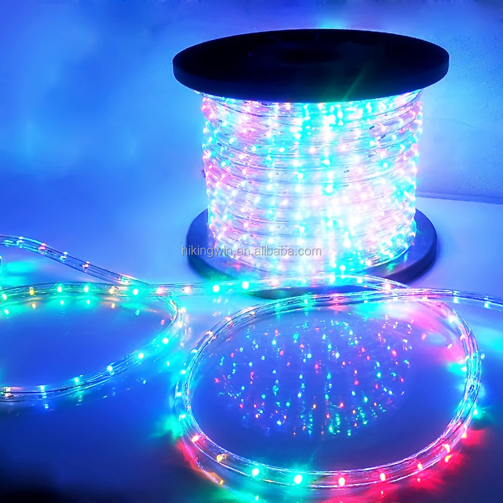 Wholesale flat round 100m decorative color changing led rope ...