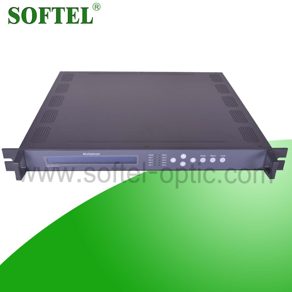 China supplier 2 ASI input 2 IP NMS MPEG 2 RF multiplexer