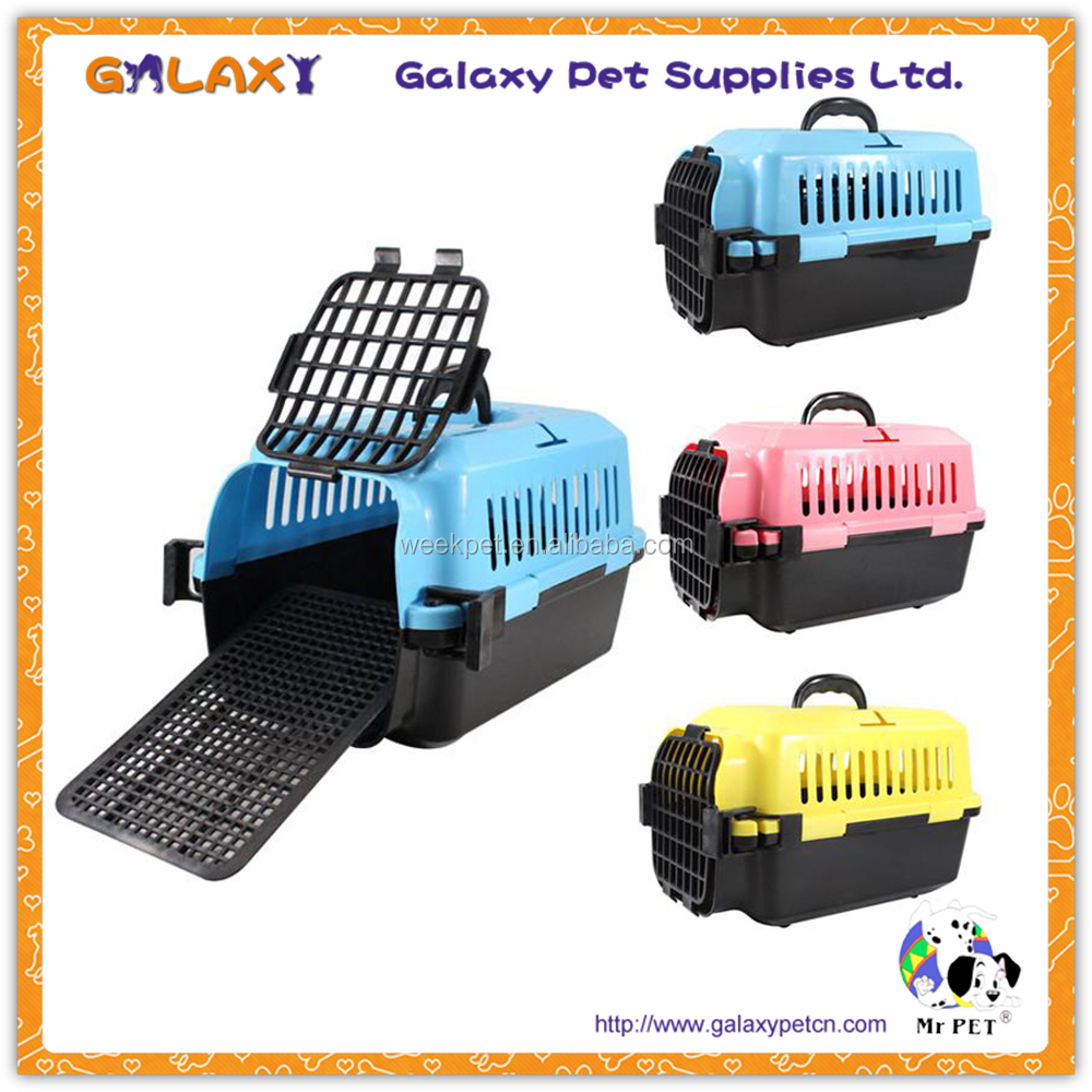 wholesale plastic pet carrier bag cat aviation box pet supply dog aviation cage pet carrier