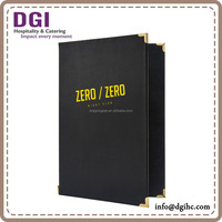 good menu design ideas hotel series menu cover/ pu leather executive folder low fob price