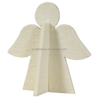 2017 new hotsale fashion cheap wholesale fabric white ornament handmade animated felt wings Christmas angel doll made in China