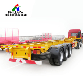 2/3 Axle New Frame Trailer Chassis 40ton/60ton Truck Trailer 20ft ...