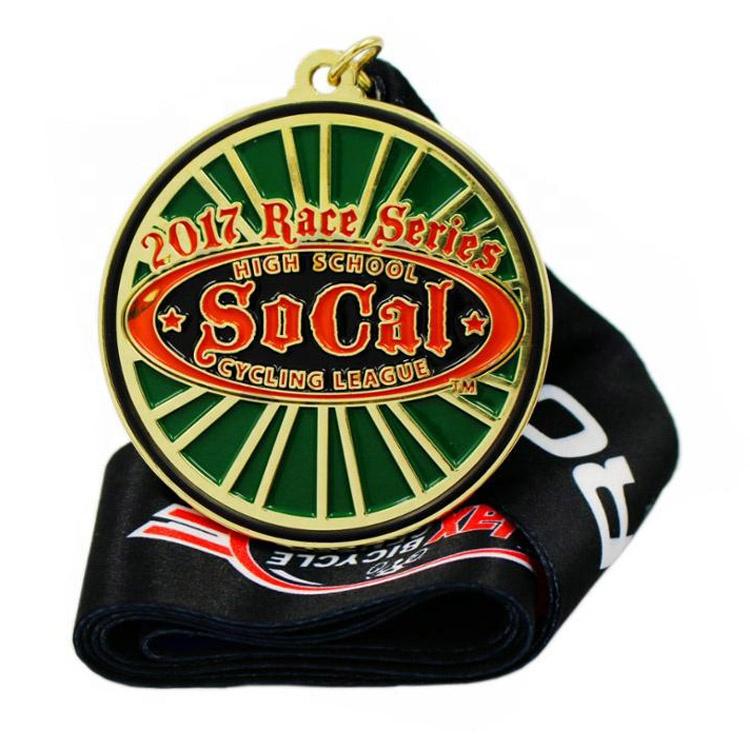 personalized 36mm custom enamel religious high school sports black half marathon finish enamel medal