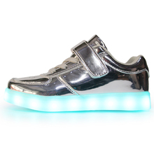 Wholesale USB charging casual kids Shoe LED Light up Shoes