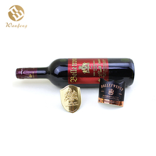 OEM Factory China Wine Brand Logo Embossed Self Adhesive Metal Label For Red Wine