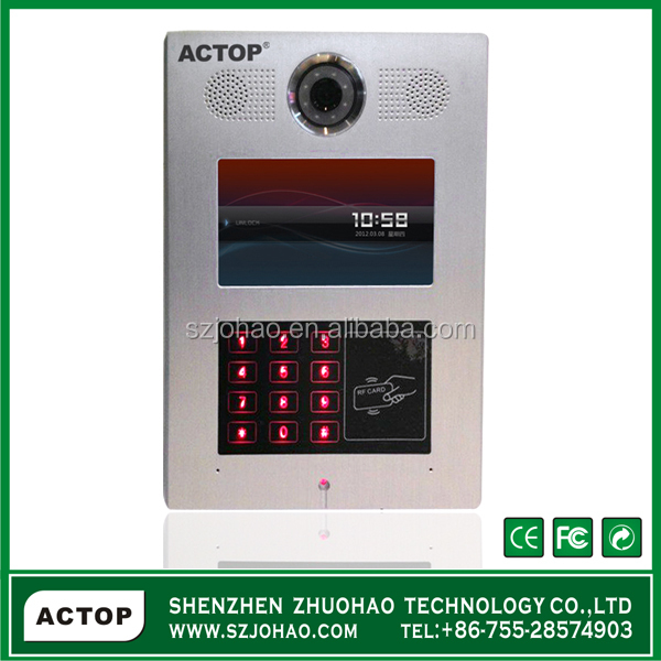 Smart Home Touch Screen Video Door Entry System Full Digital Tcp Ip