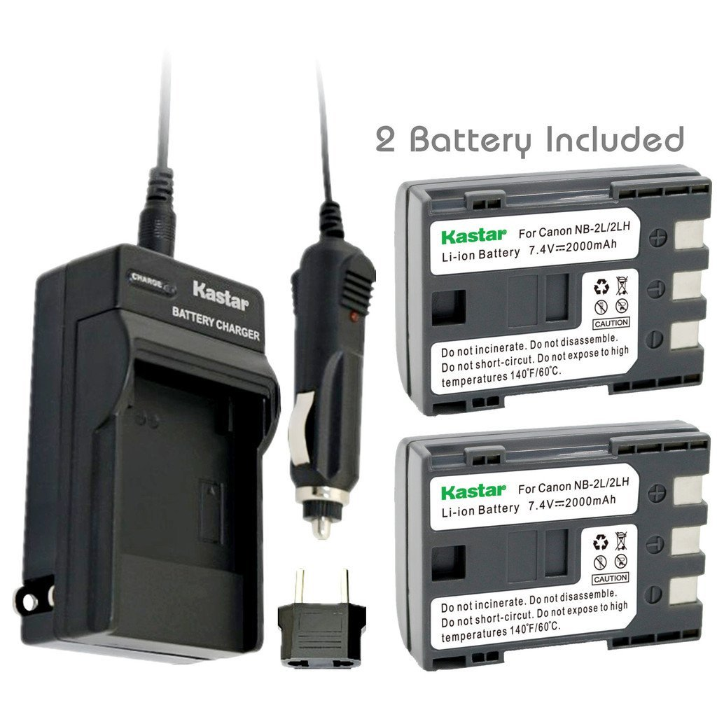 Get Quotations · Kastar Battery (2-Pack) and Charger Kit for Canon NB-2L NB