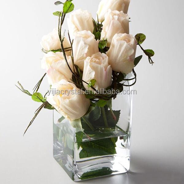 Cheap Exquisite Crystal Glass Restaurant Table Flower Vase For