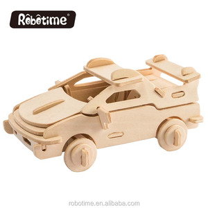 Racing car model DIY 3D wooden PUZZLE