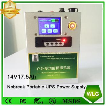 Home Ups Power Supply System Online 14v 17 5ah Li-ion Battery Ups Backup  Power Station Emergency Lighting Bluetooth Speaker - Buy Ups Power
