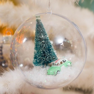 Clear Transparent Plastic Ball Christmas Toys & Gift