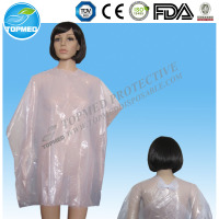 Plastic Disposable Hairdressing Capes PE Hairdresser Cape Disposable Colored Hair capes