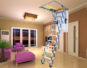2017 hot sell electric loft ladder and Manual ladder