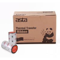 Compatible Ribbon for Zebra Brand anti-scratch Imported Standard Wax thermal Transfer printer ribbons for Horticulture