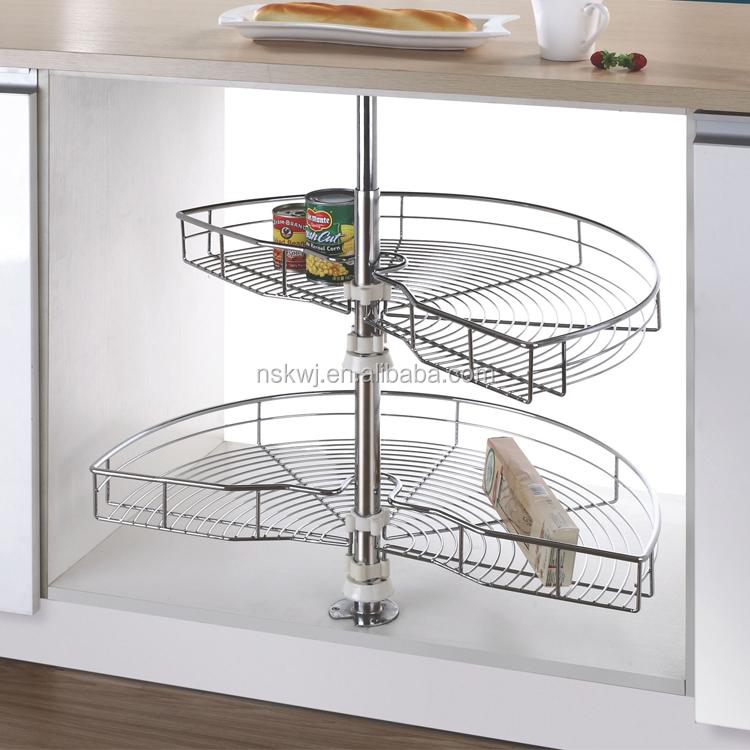 180 Degree Revolving Kitchen Basket Storage In Blind