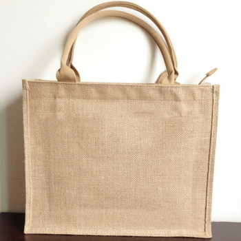 Wholesale renewable personalized mumbai promotional handle natural jute shopping book bags