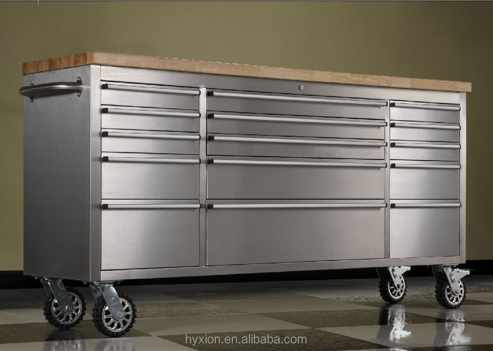 Rolling Cabinet Storage 15 Drawer Chest Garage Toolbox ...