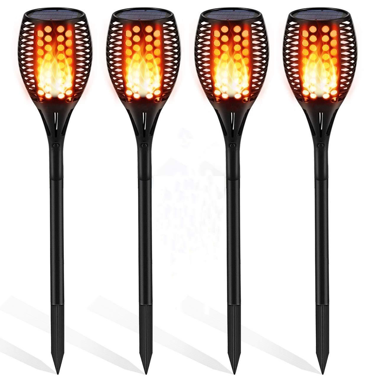 Get Quotations Kinhoo Solar Lights Outdoor Flickering Flames Torch Light Dancing Flame Lighting 96