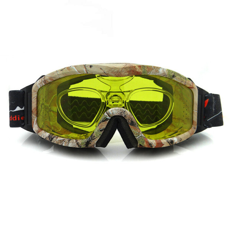 Anti-fog Snowboard Goggles Night Vision Ski Goggles 100% UV Ski Snowboard Glasses Sports  Eyewear With Case 6011