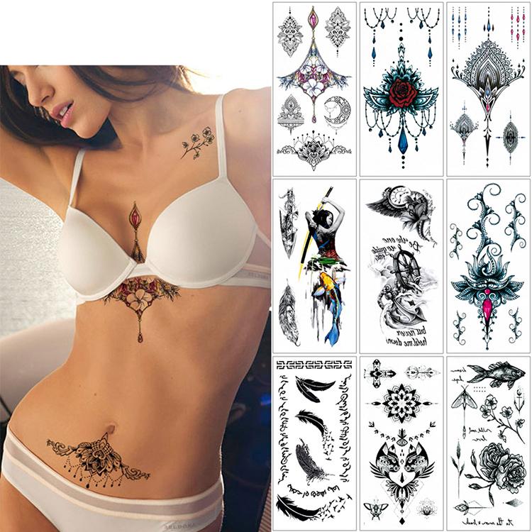Alta Qualidade Fresco Mulheres Jóias Tatuagem Temporária