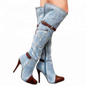 9168a7719a8 High Heel Boots Denim