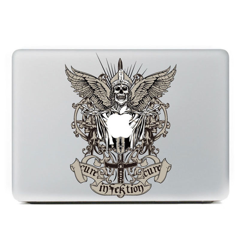 Buy t117 cool skull satan cross personality vinyl decal laptop stickers for apple macbook air 11 11 6 inch laptop skin cover in cheap price on m alibaba com