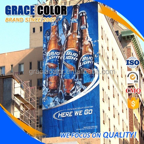 high color brilliance pvc printing mesh banners outdoor sign advertising material