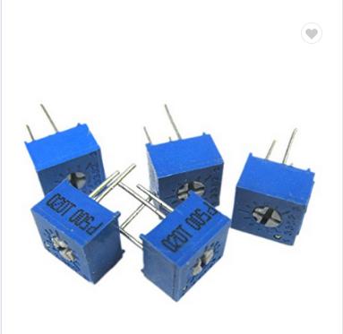 3386P-1-201 200 Ohm 3//8 Square Cermet Single Turn Trimmer Potentiometers 10 Pcs