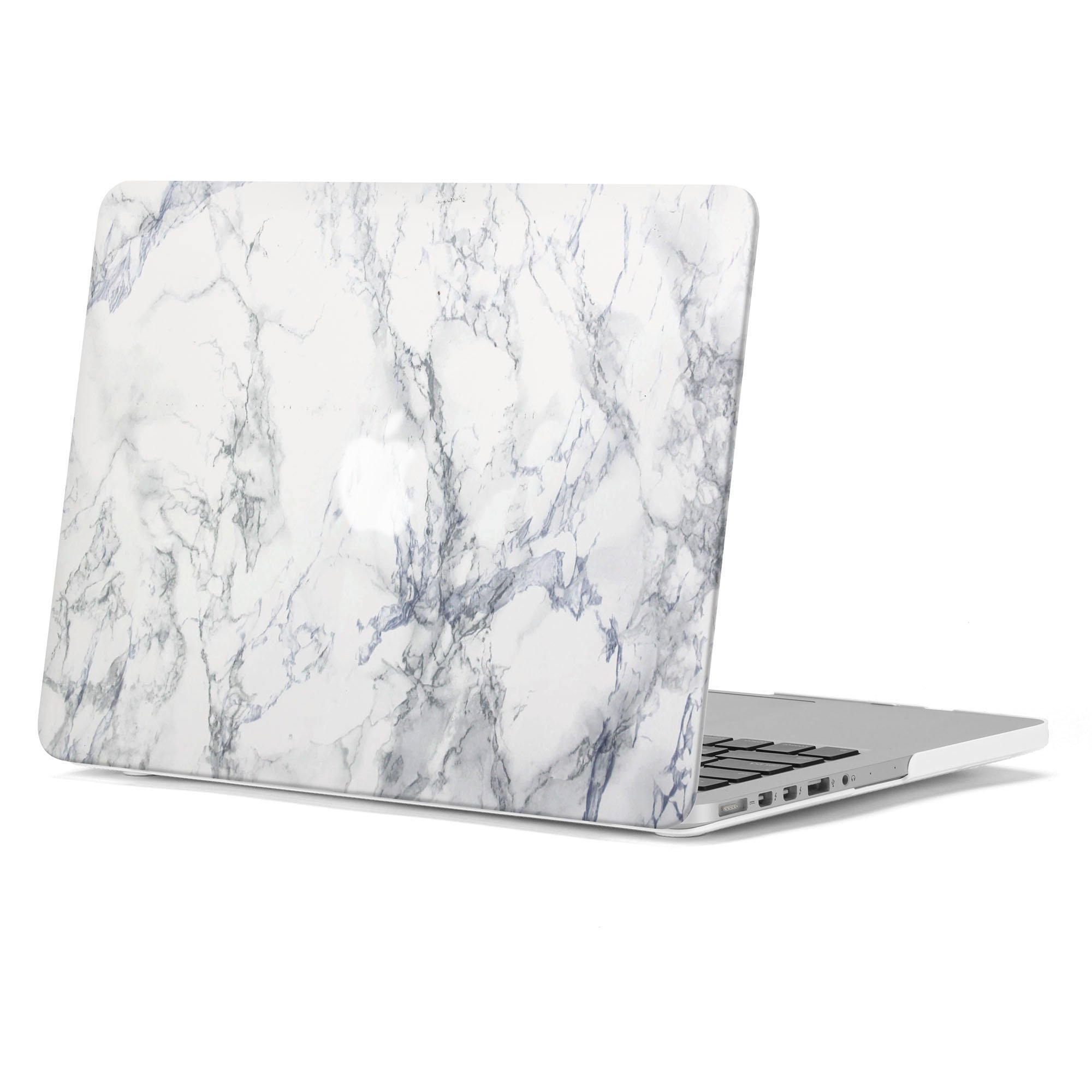 GMYLE White Marble Pattern Soft-Touch Frosted Hard Case Cover for Old MacBook Pro 13 inch with Retina Display (Model: A1425 and A1502) without CD-ROM Drive [2012-2015 Release]