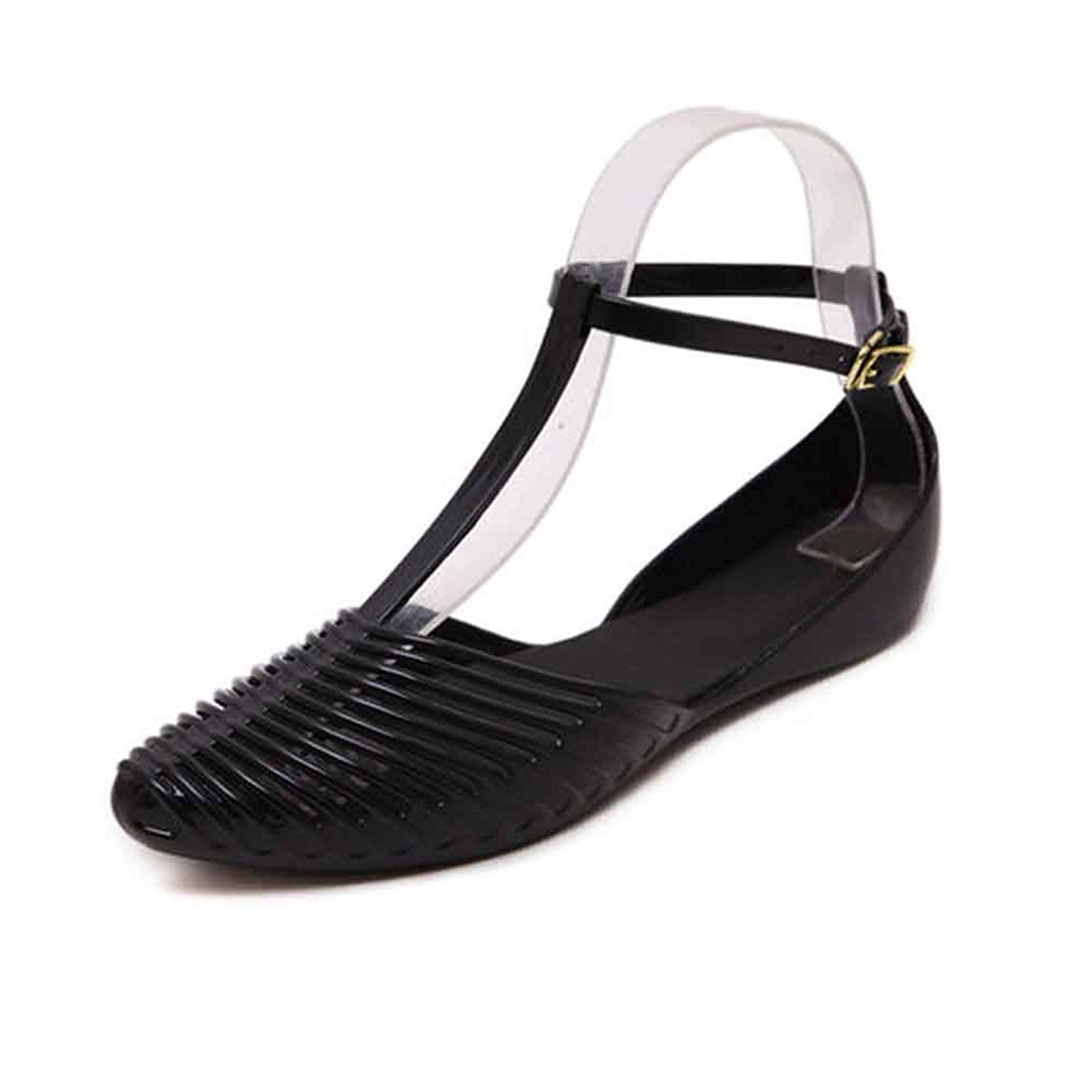 a595478fa1cf3 Get Quotations · LIURUIJIA Women s Sandals Lady Girl Sandals Summer Women  Casual Jelly Shoes Sandals HollowGL-SD-
