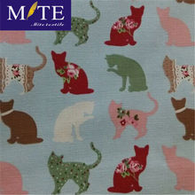 Cat Pattern 65 Polyester 35 Cotton Canvas Fabric