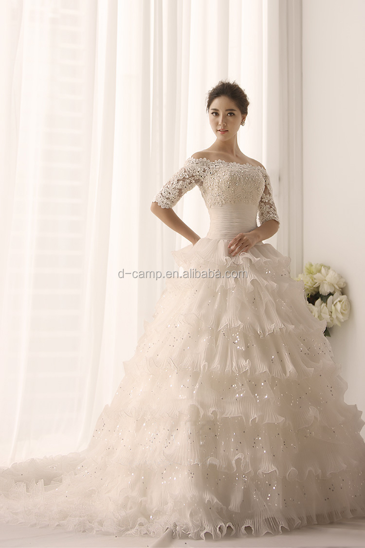 Wd095 Off The Shoulder Short Sleeves Puffy Ball Gown Middle East ...