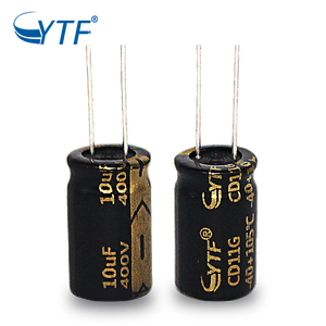 10uF 400V 10*17 Long Life Energy Saving Aluminum Electrolytic Capacitors