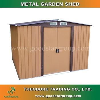 10x8 Ft Metal Storage Shed Apex Roof Variety Colors Water Proof Rust Free  For Tools Equipment