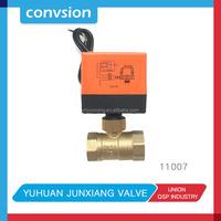 Junxiang 12v Electric Actuator Motorized Brass Ball Valve