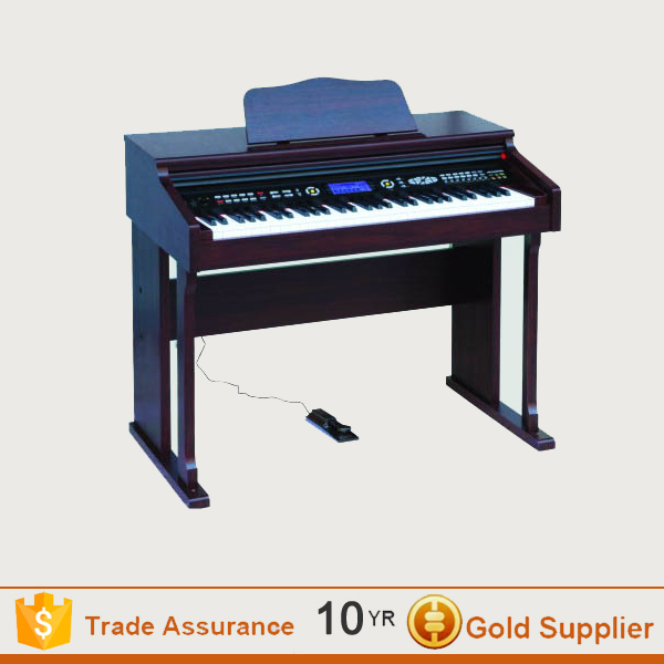 Black digital piano with 88 keys Touch Sensitive Hammer