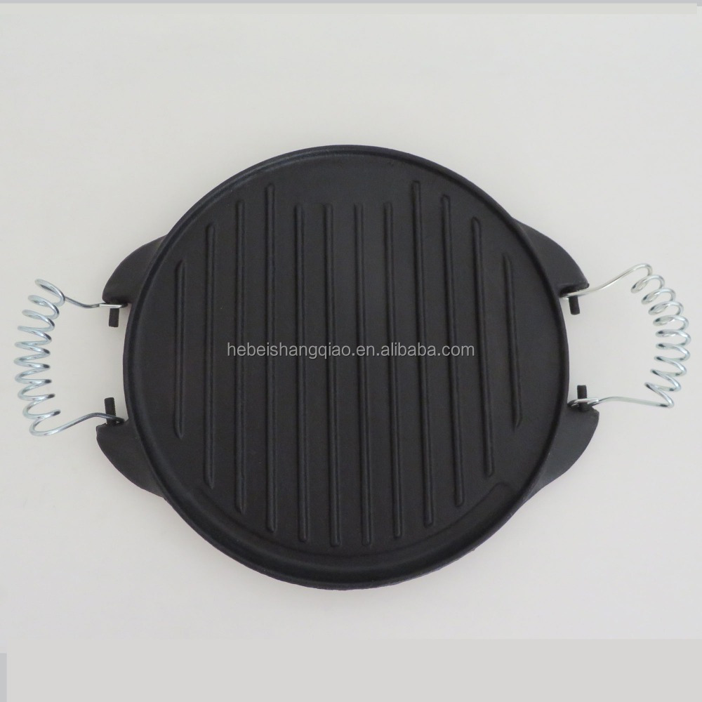 Pre-seasoned Cast Iron Round Griddle