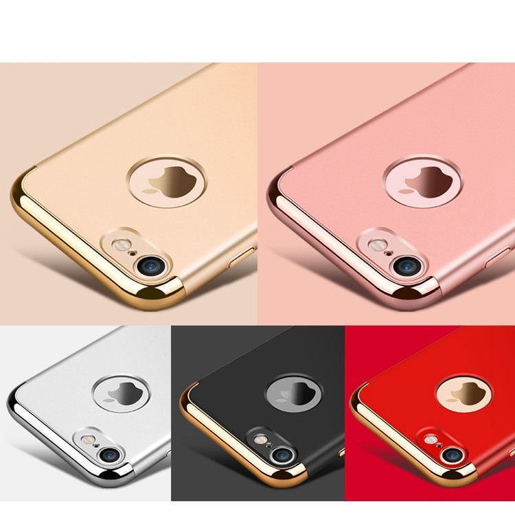 3in1 Case for iphone 7 Plus Ultra thin Hard Full PC Plastic Case for apple iphone 7 plus Logo Hole Slim