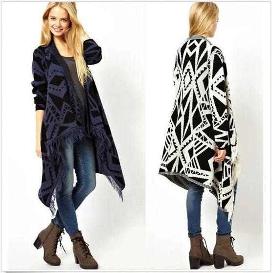 Fashion White Women Cotton Cardigan Custom Sweater Long Wraps ...