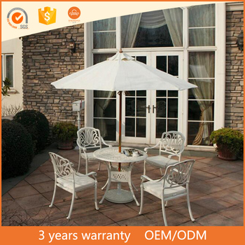 Awesome Furniture Outdoor Elegant White Cast Aluminum Patio Garden Four Chairs Dining Table Set Buy Cast Aluminum Patio Garden Four Chairs Dining Table Gmtry Best Dining Table And Chair Ideas Images Gmtryco