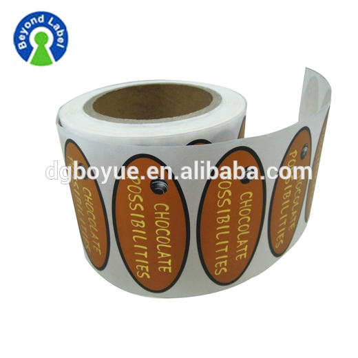 Logo Printed Food Promotion Stickers,Custom Private Chocolate Label Manufacturer In China