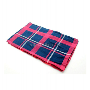 Fashion 100 cotton tartan plaid ladies scarf