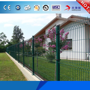 China High Quality cheap price hot dip galvanized PVC coated welded 3d wire mesh fence panel/triangular v type fence for sale
