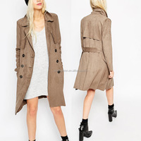 China Supplier Korean Style Fashion Women Coat 2016 Latest Long Coat Designs for Women