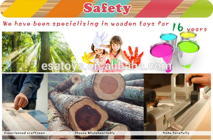 2016 new design crown wooden stacking rings toy for toddlers W13D129